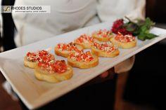 Rustic Tomato & Mozzarella Brochetta | Puff 'n Stuff Catering | Photo by @Edmund Rhodes