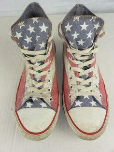 Converse Chuck Taylor American Flag Canvas High Top Sneakers Men 10.5 Wom.  12.5  36e66f5eb