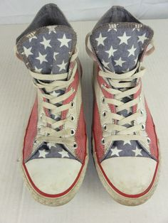 c4a669675a4c Converse Chuck Taylor American Flag Canvas High Top Sneakers Men 10.5 Wom.  12.5