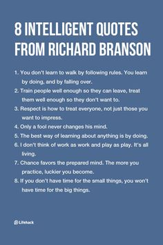 8 Intelligent Quotes From Richard BransonYou can find Intelligent quotes and more on our Intelligent Quotes From Richard Branson Wisdom Quotes, Quotes To Live By, Life Quotes, Quotes Quotes, Poetry Quotes, Daily Quotes, Ambition Quotes, Positive Quotes, Motivational Quotes