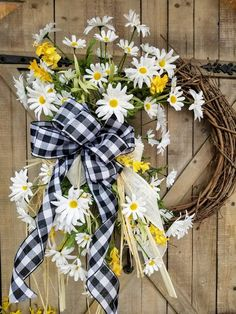 23 Daisy Front door wreath White Daisy Wreath Wreath