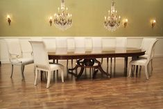 72 inch Round Pedestal Table Seats 12 People with Leaves
