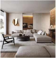 45 Modern Industrial Interior Design Living Room Décor Ideas - HOMYFEED In every age, furniture is made for the same basic purposes. Tables, desks and workbenches provide space for work or … Living Room Modern, Living Room Interior, Home Living Room, Living Room Decor, Living Area, Contemporary Living Room Designs, Contemporary Sofa, Cozy Living, Simple Living