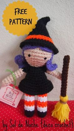 Sol de Noche {deco crochet}: Free pattern - Little Witch
