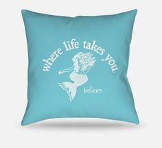 Believe (Lagoon) Pillow