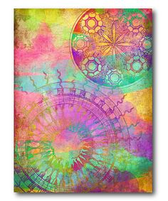 Dreamy Rainbow Up Gallery-Wrapped Canvas