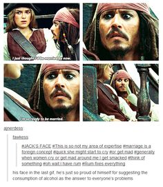 Captain Jack Sparrow Everybody Jack Sparrow Quotes, Jack Sparrow Funny, Johnny Depp, Stupid Funny Memes, Hilarious, Funny Disney Memes, Fandoms, Pirate Life, Nerd
