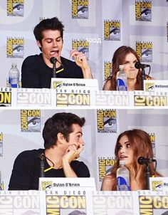Holland and Dylan would make such a cute couple. Oh well, at least we get to see them as a couple thru Lydia and stiles Stiles Teen Wolf, Teen Wolf Stydia, Teen Wolf Mtv, Teen Wolf Funny, Teen Wolf Dylan, Teen Wolf Cast, Teen Wolf Quotes, Teen Wolf Memes, Series Movies