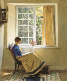 Morning Sun, Harold Knight. English (1874 - 1961)