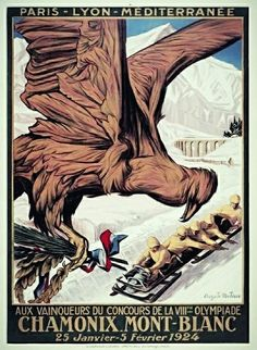 On 25 January 1924 the 1st Winter Olympic games open at the foot of Mont Blanc in Chamonix, France. #SportsHistory #WinterOlympics #Chamonix