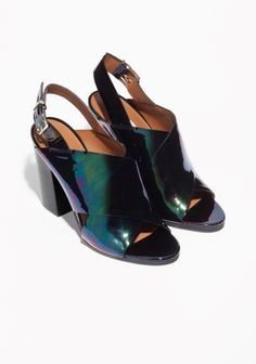 & Other Stories | Criss-Cross Oily Leather Sandals