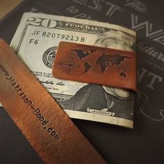 World Map Money Clip - Not all those who wander are lost.