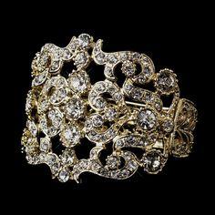 Dazzling Gold Clear Rhinestone Crystal Diamante Wedding Bracelet Rhodium Bridal Bangles From Broochseller, $3.14   Dhgate.Com