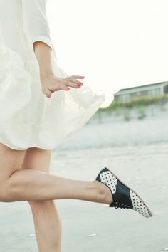 Polka dot shoes by Bass + Rachel Antonoff