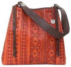 By Style - Big Totes - Double J Saddlery - Rustico Orange Sunset Big Tote - BT137