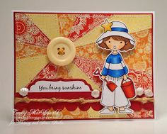 Whimsy and Stars Studio Stamps: Digi Stamp Feature: Amelie to the Beach