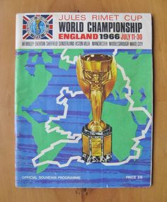 1966 World Cup - Official Tournament Brochure / Programme *VG Condition* World Cup Fixtures, 1966 World Cup, Soccer Art, Middlesbrough, Football Program, White City, Bow Hair Clips, Everton, World Championship