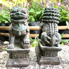 Excited to share this item from my #etsy shop: Thailand Singha Chinese Guardian Lions Foo Dog Fu Dog Statue Pair Architectural