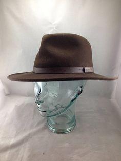 5d15f41ab03b2 Vintage Dark Brown Fendleton Fedora Style Hat Style