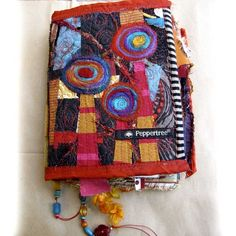 Journal hand made with stitched fabric and painted by robruhn