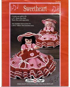 Sweetheart  Pillow Doll Music Box Doll or Bed by grammysyarngarden, $5.50