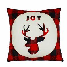 Poduszka świąteczna Joy Velvet Deer 45x45 Czerwony Merry Christmas, Flag, Joy, Throw Pillows, Merry Little Christmas, Toss Pillows, Cushions, Merry Christmas Love, Wish You Merry Christmas