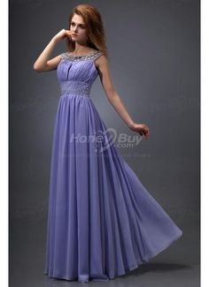 Chiffon Floor Length High Quality Beaded Embellishment Dress For Prom