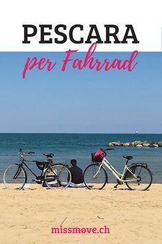 Pescara in der italienischen Region Abruzzen liegt direkt am Meer. Du kannst über 16 km weit auf einem Radweg dem Meer entlang pedalen. Aber Pescara bietet noch mehr für Fahrrad-Freunde... #cyclingtips #italy #travelblog #abruzzen #pescara #fahrradreisen