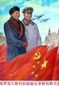 Mao Zedong and Stalin propaganda poster by ShitAllOverHumanity on DeviantArt