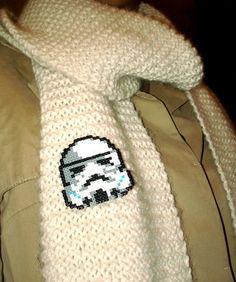 Star Wars Stormtrooper Pin Fan Art Brooch or Keychain by BeadxBead, €7.30