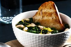 Parmesan Broth with Swiss Chard and White Beans by Sara Jenkins: A deeply satisfying winter cure all!