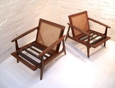 Pair OF Parker Blackwood Rattan Back Lounge Chairs Sydney 1961 Vintage Retro Lounge Chairs, Outdoor Chairs, Outdoor Furniture, Outdoor Decor, Retro Home, Mid Century Furniture, Rattan, Sydney, Retro Vintage