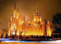 beautiful churches at christmas