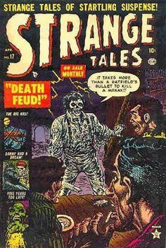A cover gallery for the comic book Strange Tales Sci Fi Comics, Horror Comics, Creepy Comics, Vintage Comic Books, Vintage Comics, Marvel Masterworks, Strange Tales, Doctor Strange, Comic Book Girl