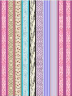 Paper Bead Design Kit number 3, The Kits include Bead Templates and graphics for you to make and sell Paper Beads with Vintage Pastel Designs. Kit number 3 consists of 8 Vintage Pastel Design Paper Bead Designs. One full page of templates for each design and one page of the designs assorted.