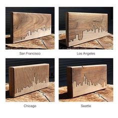 City Skyline Wooden Routing | California, San Francisco, New York City, Urban, Contemporary, Modern, Wall Decor | UncommonGoods