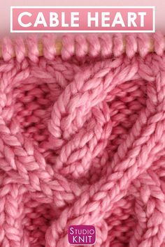 a pretty cable pattern for those you love! Learn How to Knit a Cable Heart with Free Knitting Pattern + Video Tutorial bySuch a pretty cable pattern for those you love! Learn How to Knit a Cable Heart with Free Knitting Pattern + Video Tutorial by Knitting Videos, Knitting For Beginners, Knitting Stitches, Knitting Patterns Free, Free Knitting, Free Crochet, Stitch Patterns, Knit Crochet, Crochet Patterns