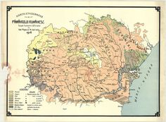 The ethnographic map of the Romanian earth made by Val. Popa and N. Istrate in 1916 (MNIR, Inv. Old World Maps, Vintage World Maps, Historical Maps, Bucharest