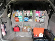 Great ideas and i dont see why they couldnt apply to  the boat, tent or camper too!!- 20 Easy DIY Ideas and Tips for organizing your car
