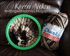 Knitting With Looms: Slouch Hat with Ribs - a Work In Progress (WIP)