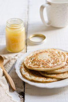 coconut milk & sourdough pancakes