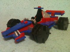 red/white/blue Hot Rod