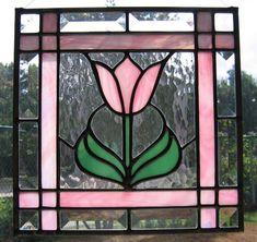 simple pink tulip