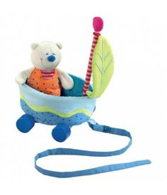 Bear Ahoy Pull Toy - Boat even has a seat belt to keep the little bear safe on all of his journeys. Wheels, flag and string are detachable. Let your imagination travel! $25.49