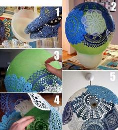 20 Interesting DIY Fashion Ideas  Not into the blue ones but maybe other lace and findings...