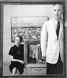 Kay Sage and Yves Tanguy, shot for Time magazine on the occasion of their joint exhibition at the Wadsworth Atheneum in Artist Life, Artist At Work, Yves Tanguy, Im Waiting For You, O Reilly, Kindred Spirits, Man Ray, Couple, Art Studios