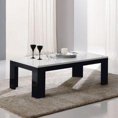 Table basse noir laqué design SIERA