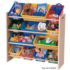 Tot Tutors Toy Organizer Kids Playroom Storage Bin Primary Colors Book Box New Kids Play Table, Kids Bench, Kids Sofa, Kids Storage Units, Kid Toy Storage, Storage Bins, Playroom Storage, Playroom Ideas, Storage Ideas