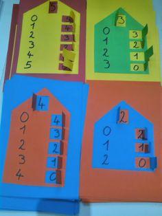 Onderwijs en zo voort ........: 3080. Getalsplitsen : Wie wonen er in het huisje ?