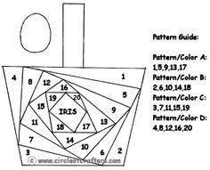 basket iris folding pattern